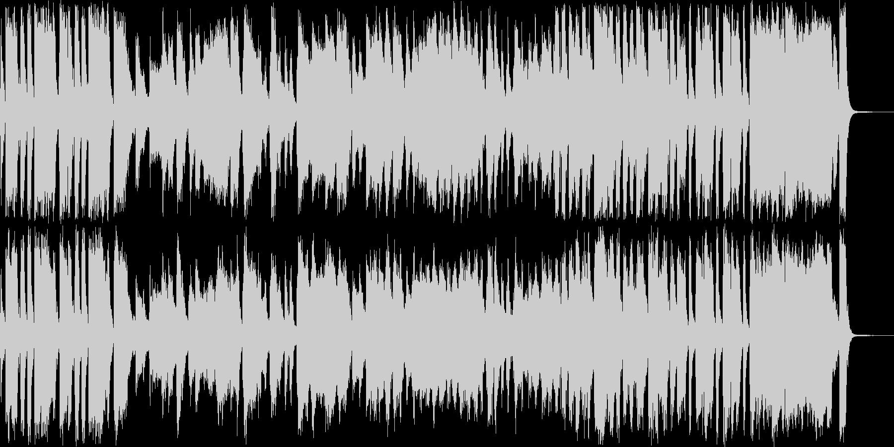ビッグバンドジャズです。生っぽさを出せ…の未再生の波形
