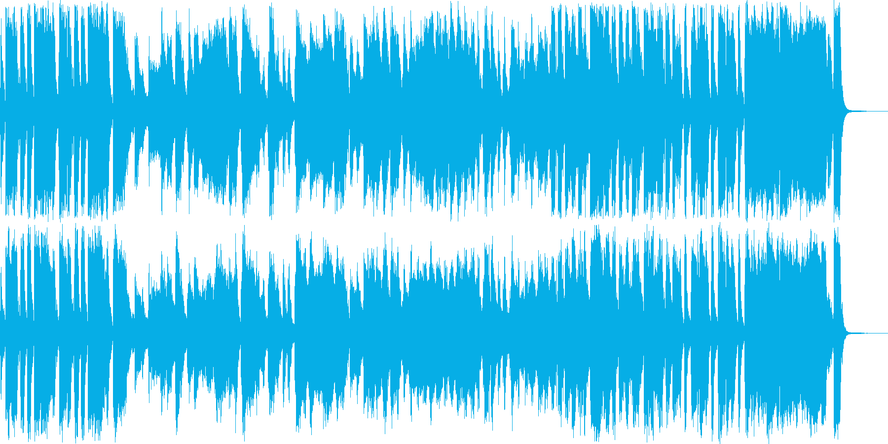 ビッグバンドジャズです。生っぽさを出せ…の再生済みの波形