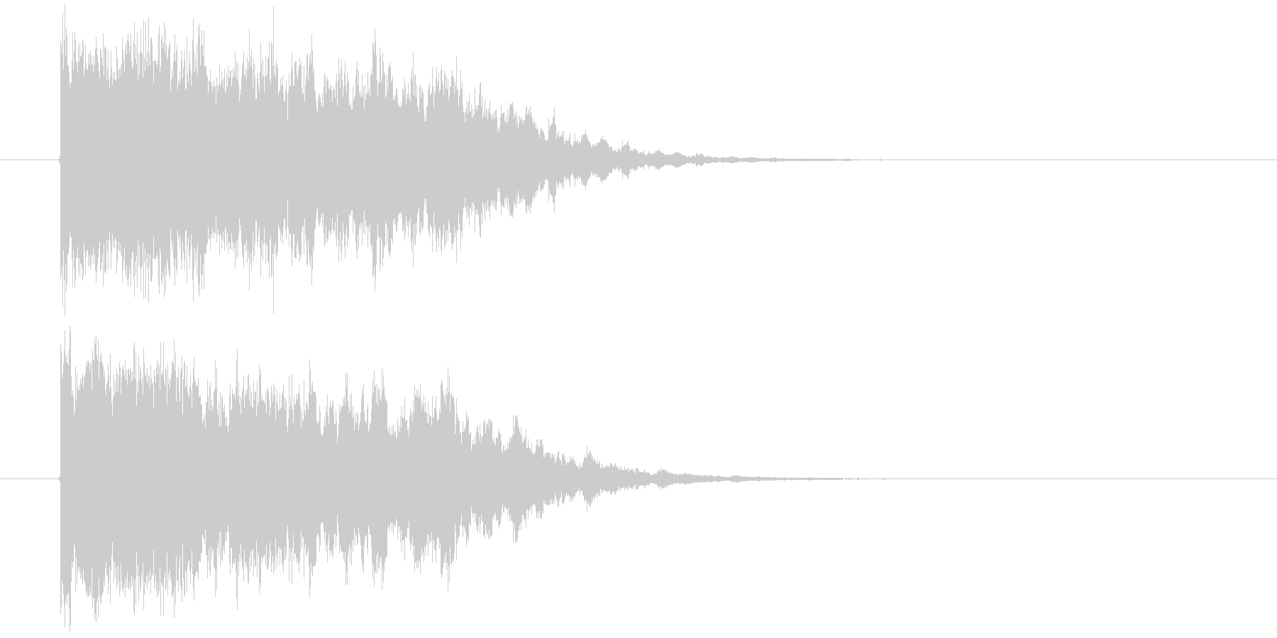 魔法系インパクト音の未再生の波形