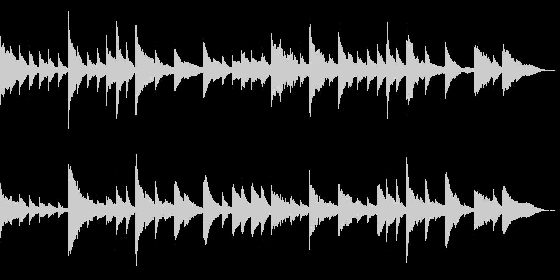 ピアノテイストでキラキラとしたBGMの未再生の波形