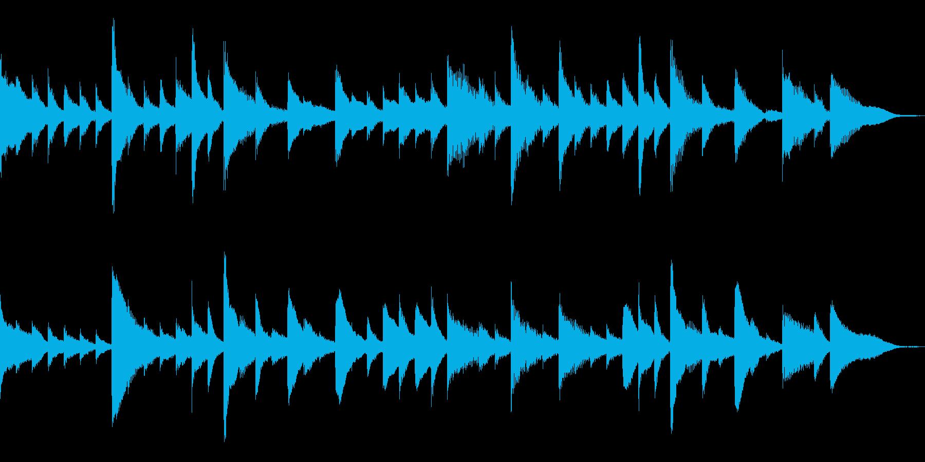 ピアノテイストでキラキラとしたBGMの再生済みの波形