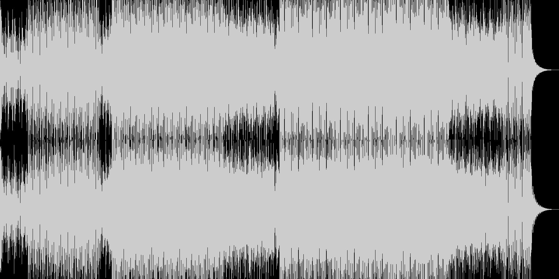 明るいダンス用BGM1の未再生の波形