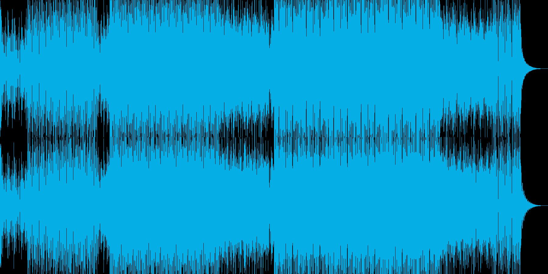 明るいダンス用BGM1の再生済みの波形