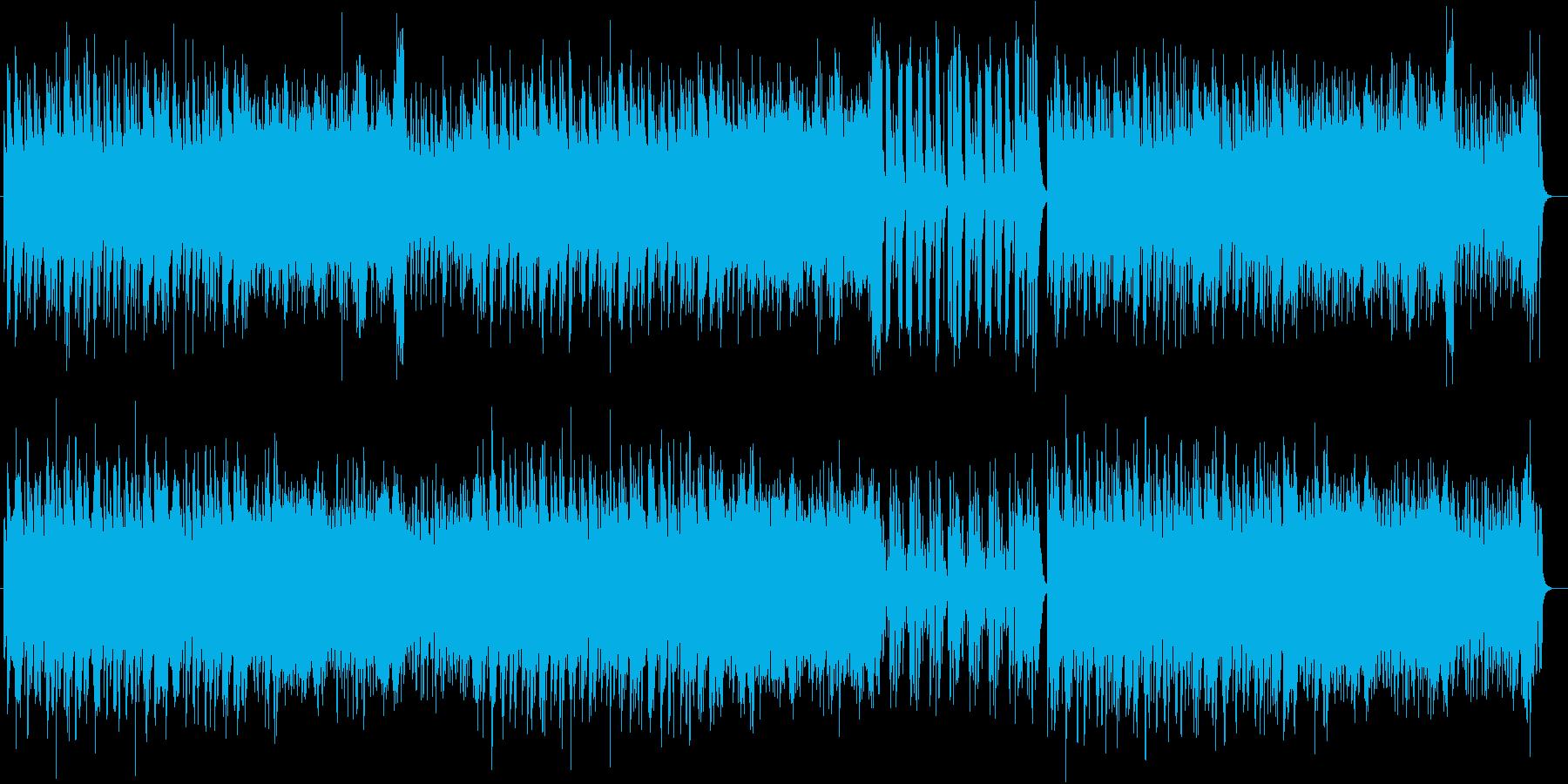 お洒落な雰囲気のシンセサイザー楽曲の再生済みの波形