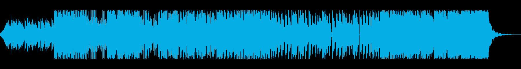 壮大な導入曲の再生済みの波形