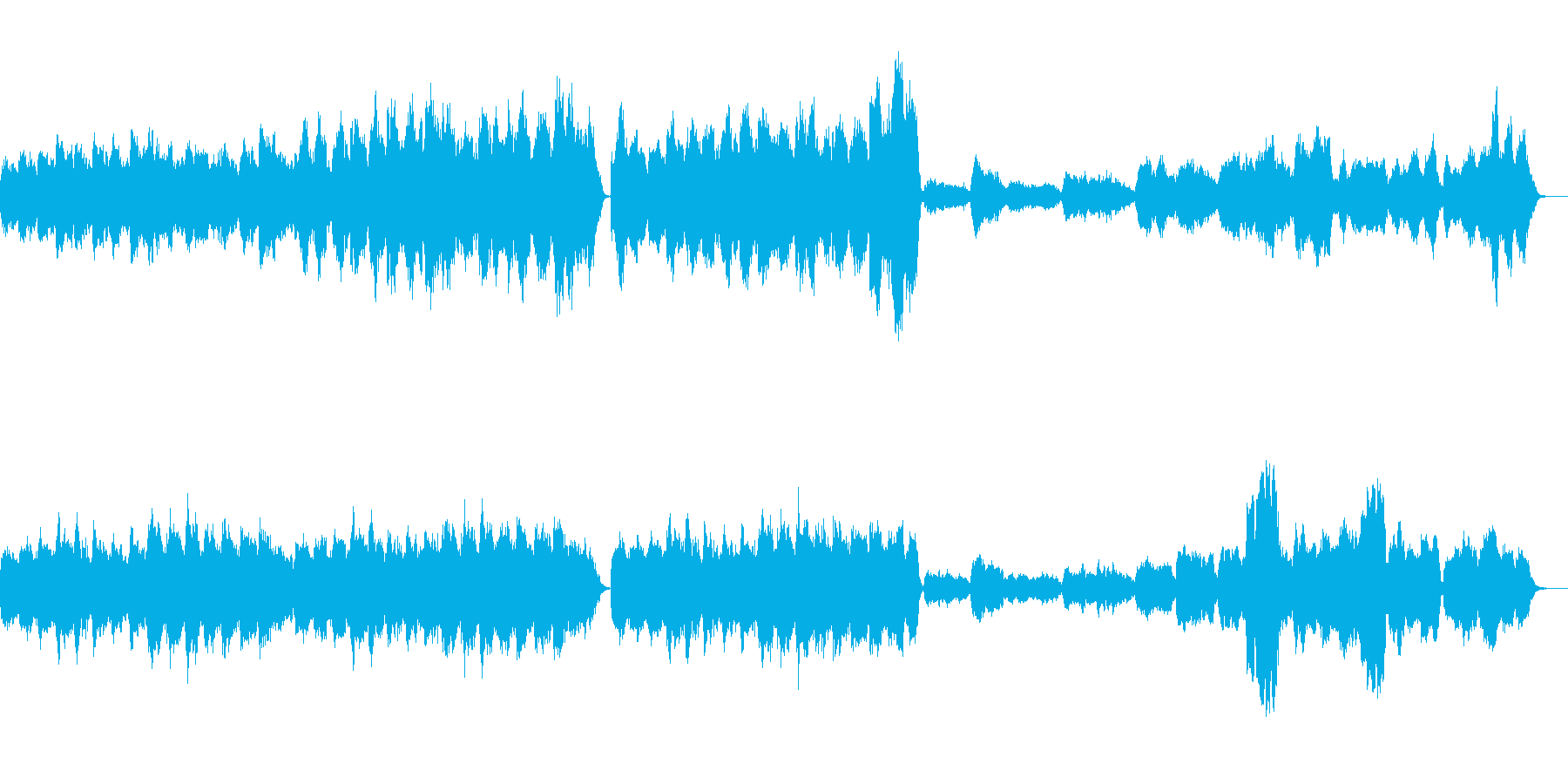 幻想的なクラシック音楽の再生済みの波形