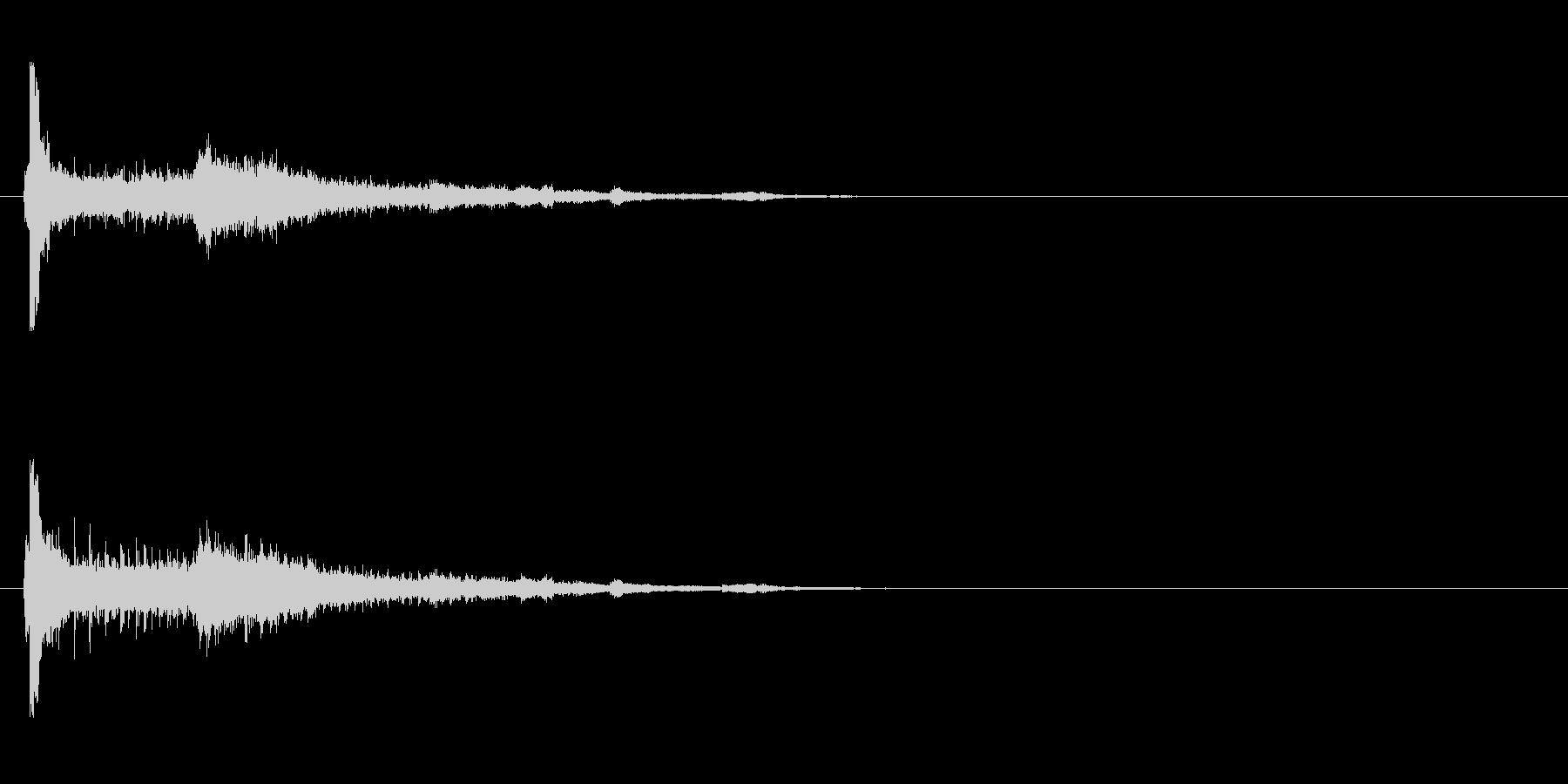 【アクセント01-1】の未再生の波形
