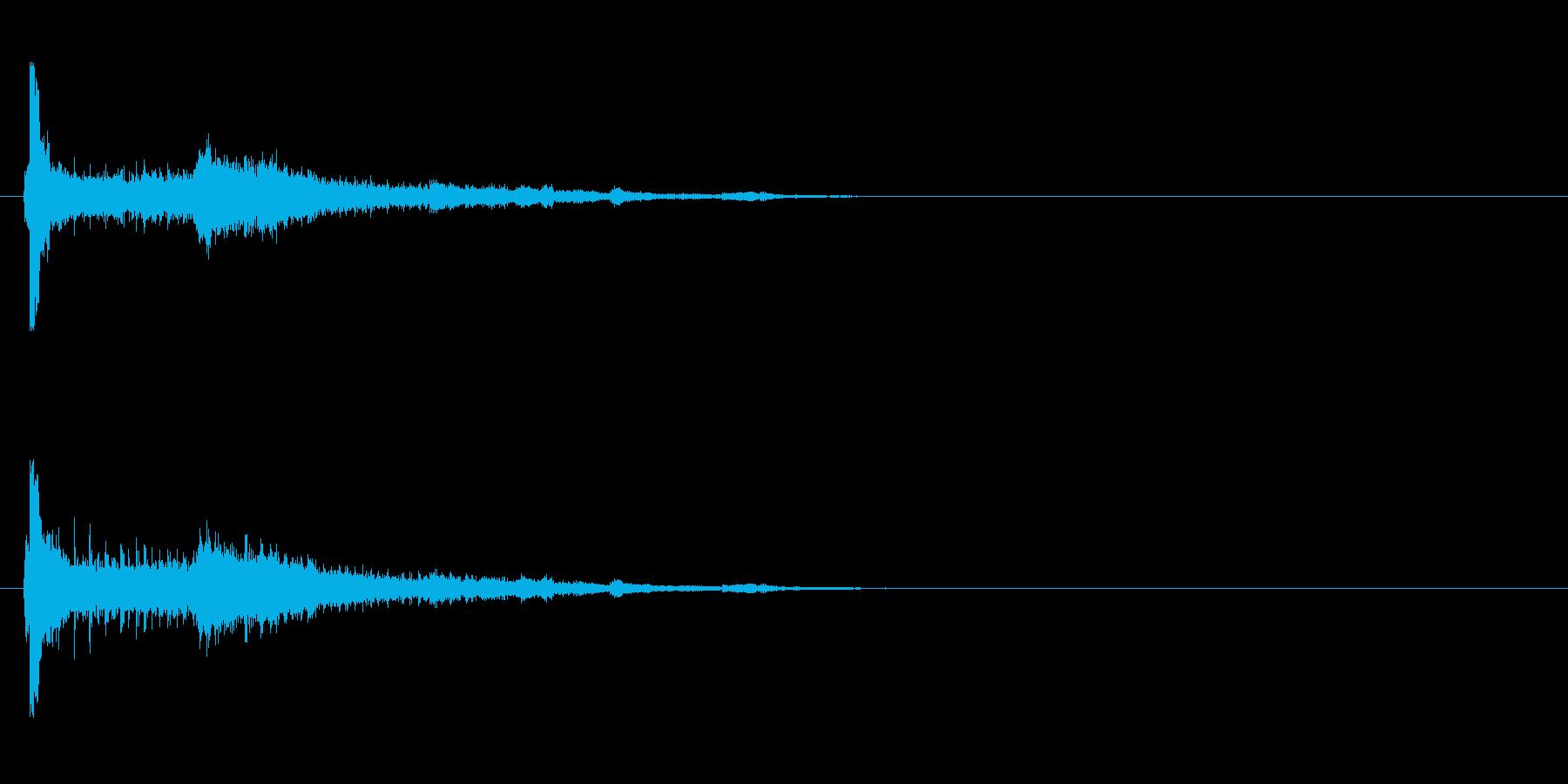 【アクセント01-1】の再生済みの波形