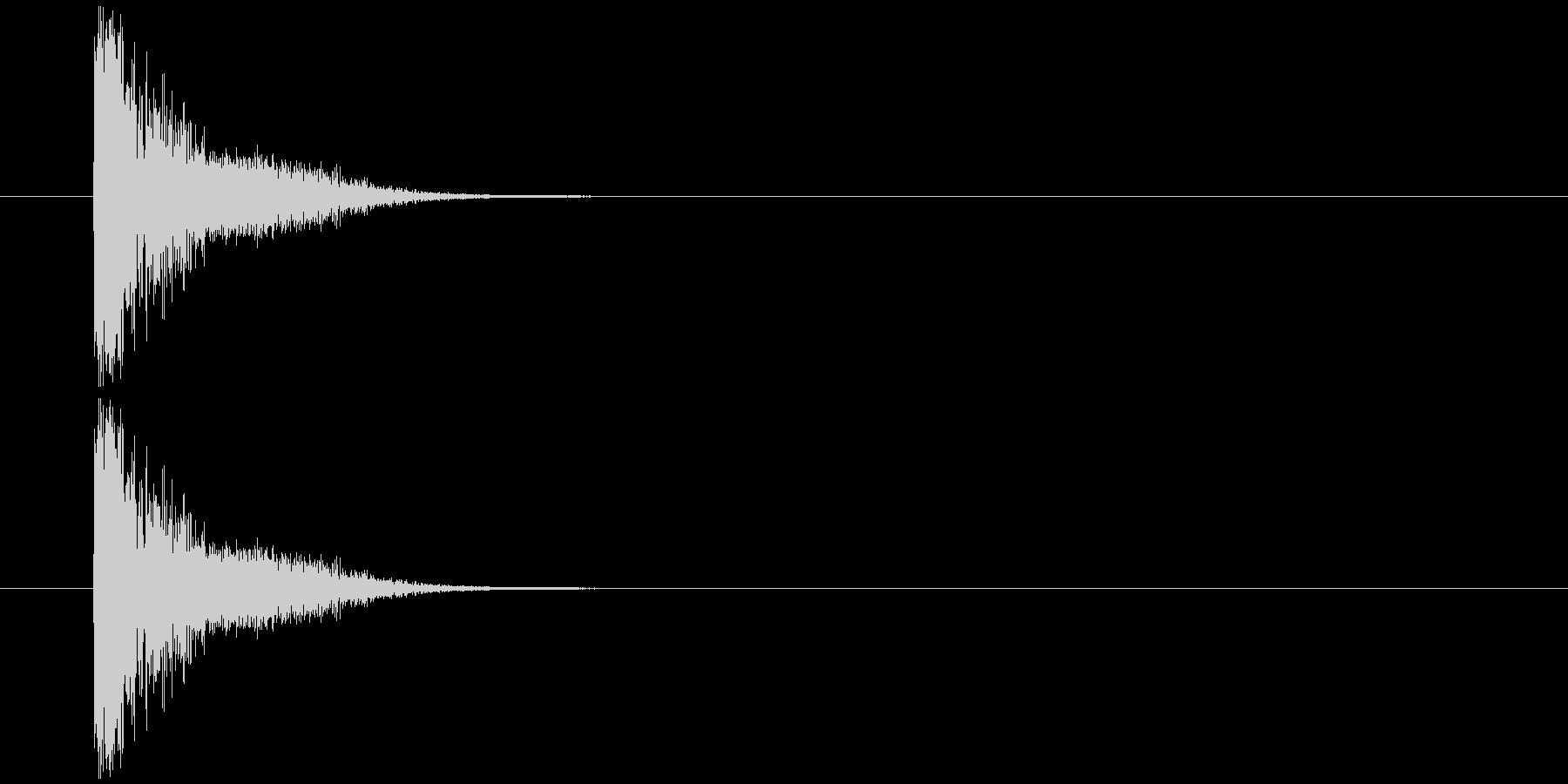 軽い発射音の未再生の波形