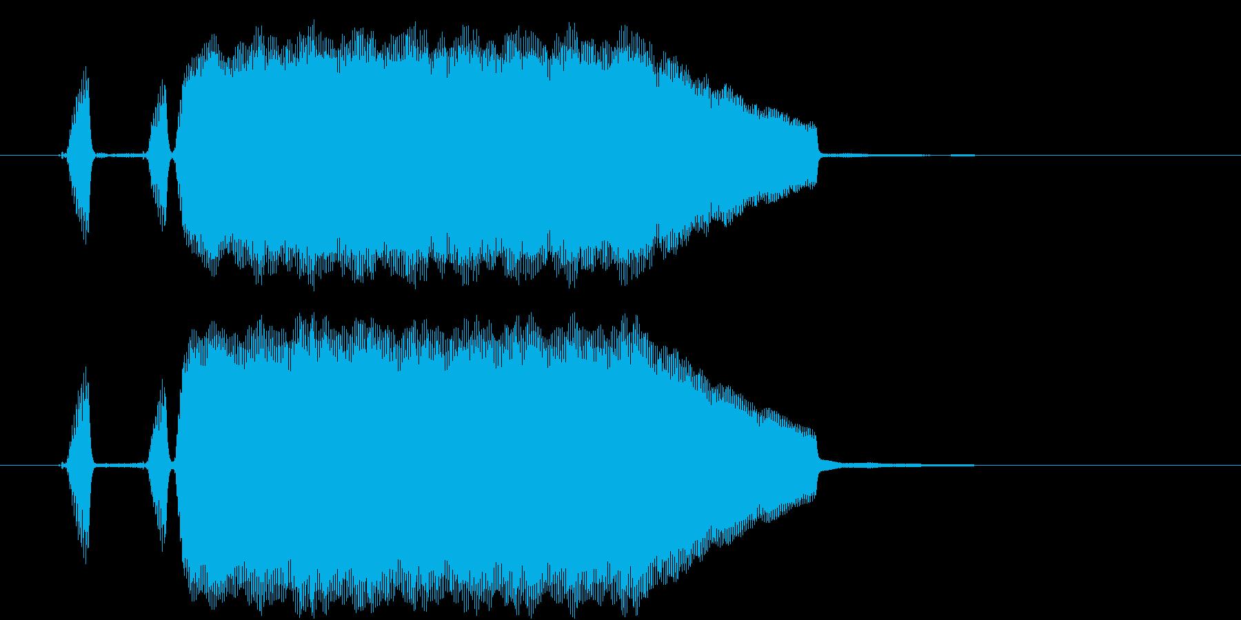 テッテレー リコーダー音のほのぼの系の再生済みの波形