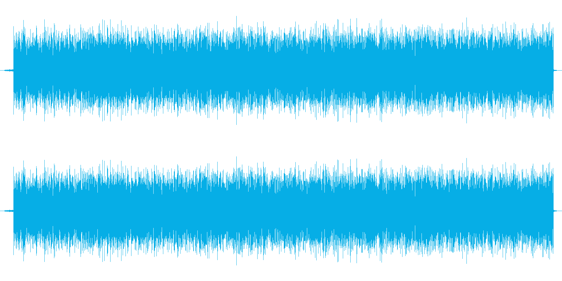 ザーッ、というホワイトノイズですの再生済みの波形