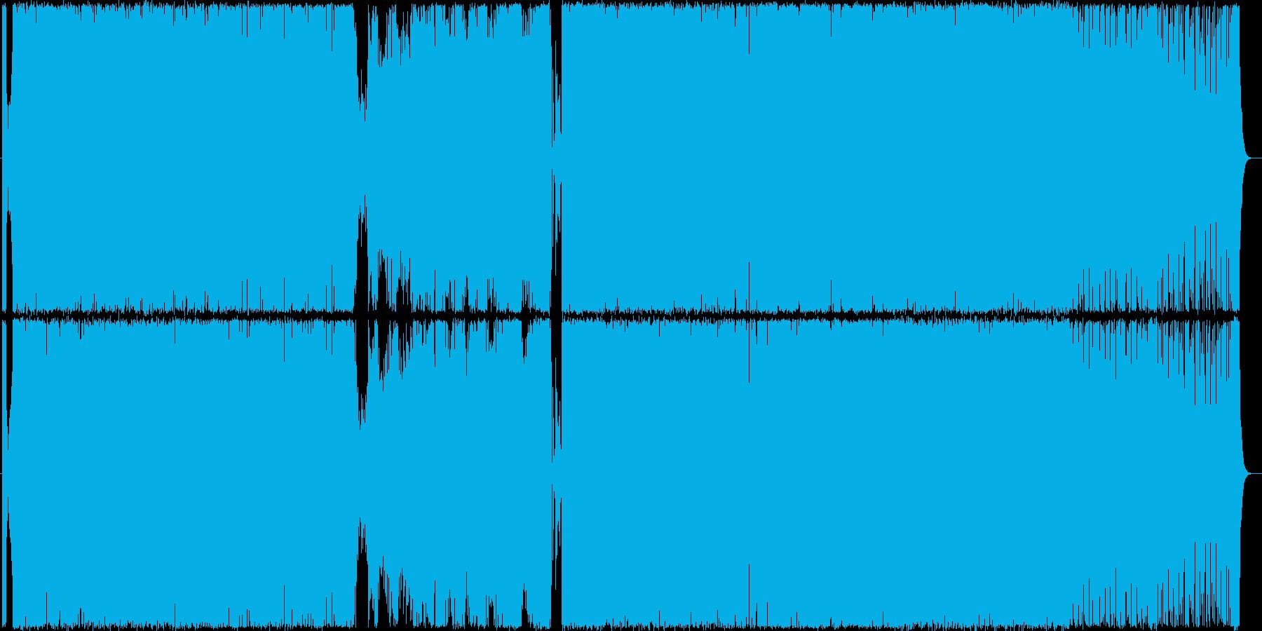 勢い、スピード感のあるバトル曲の再生済みの波形
