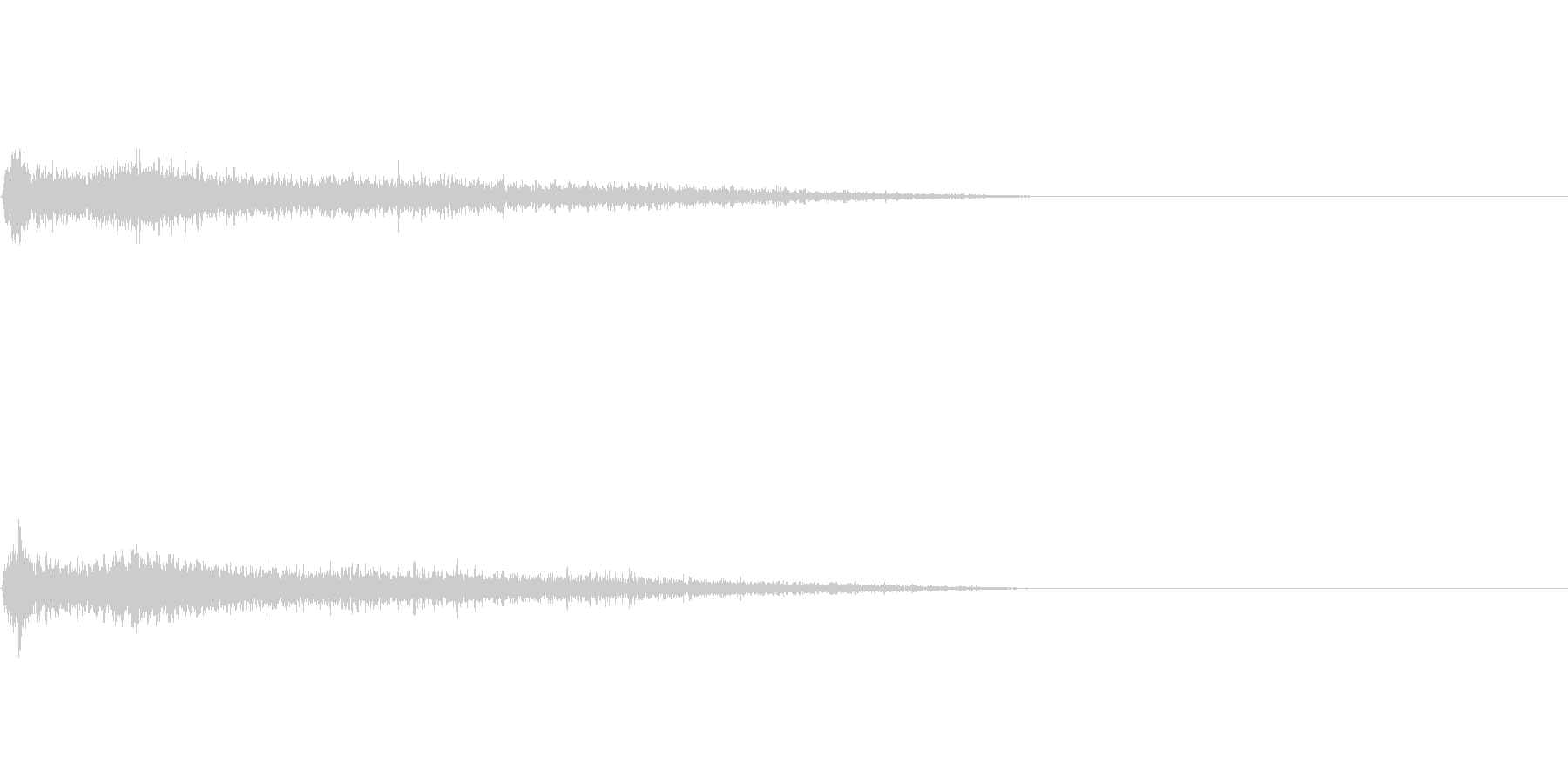 Aメジャー インパクト音 衝撃音の未再生の波形