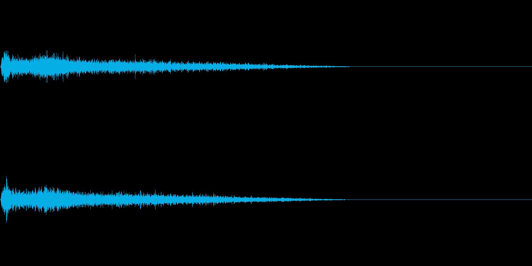Aメジャー インパクト音 衝撃音の再生済みの波形