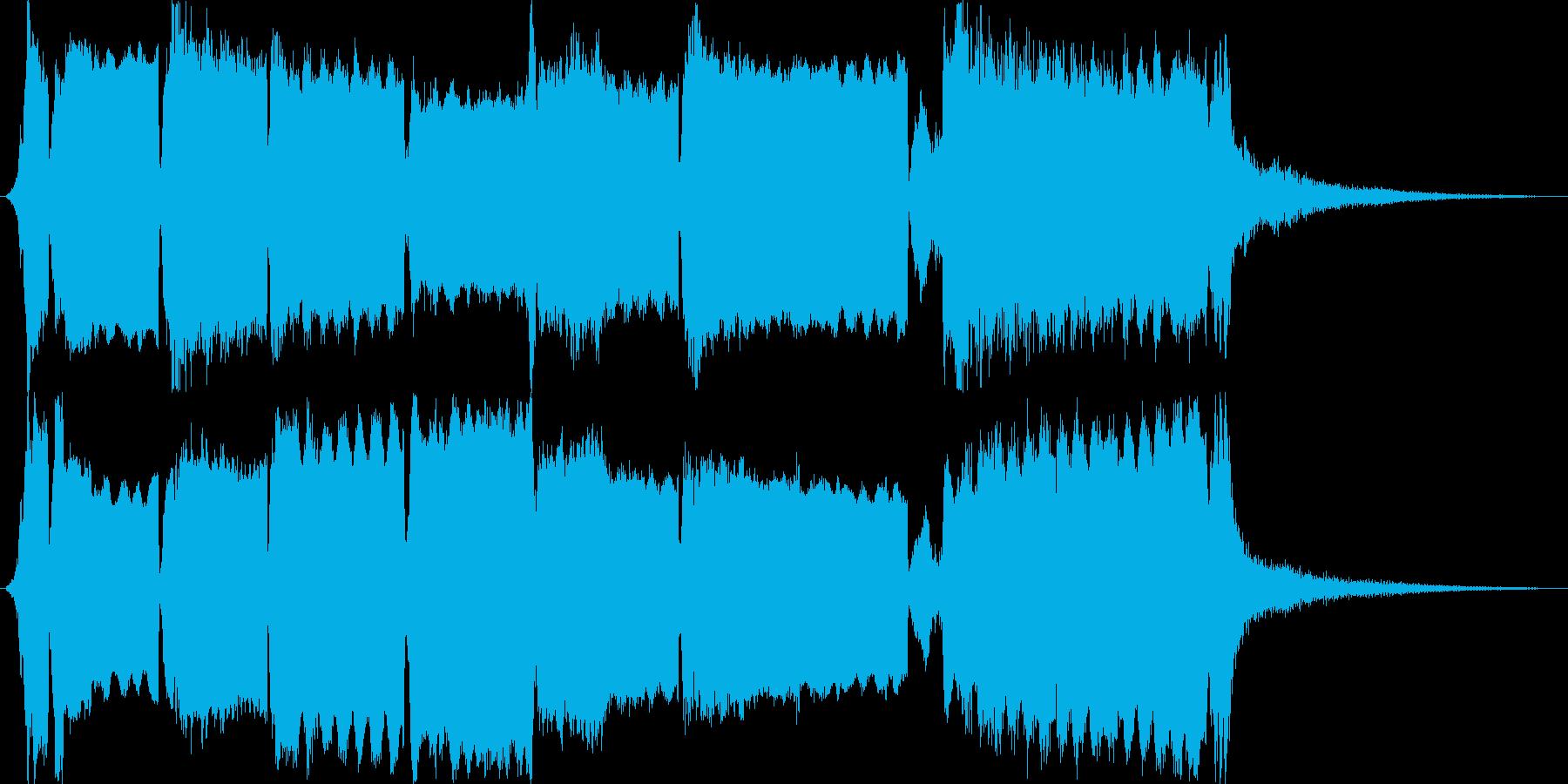 尺八の和風ジングルの再生済みの波形