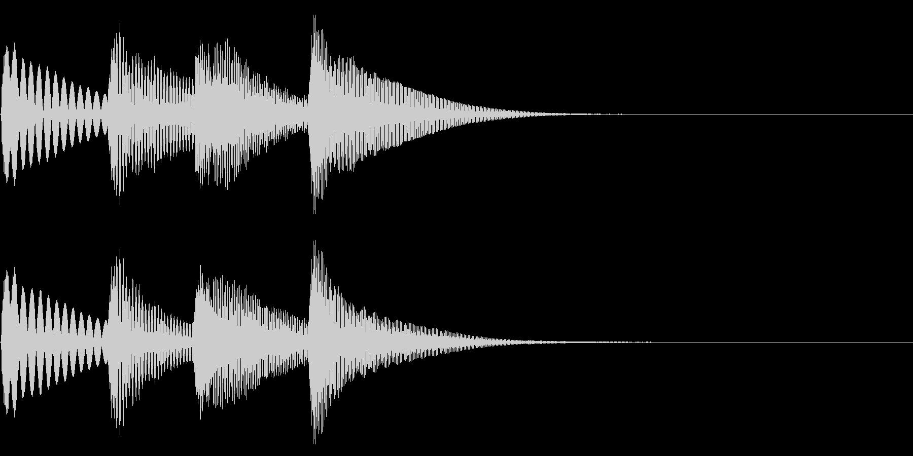 チャンチャンのような場面転換を木琴での未再生の波形