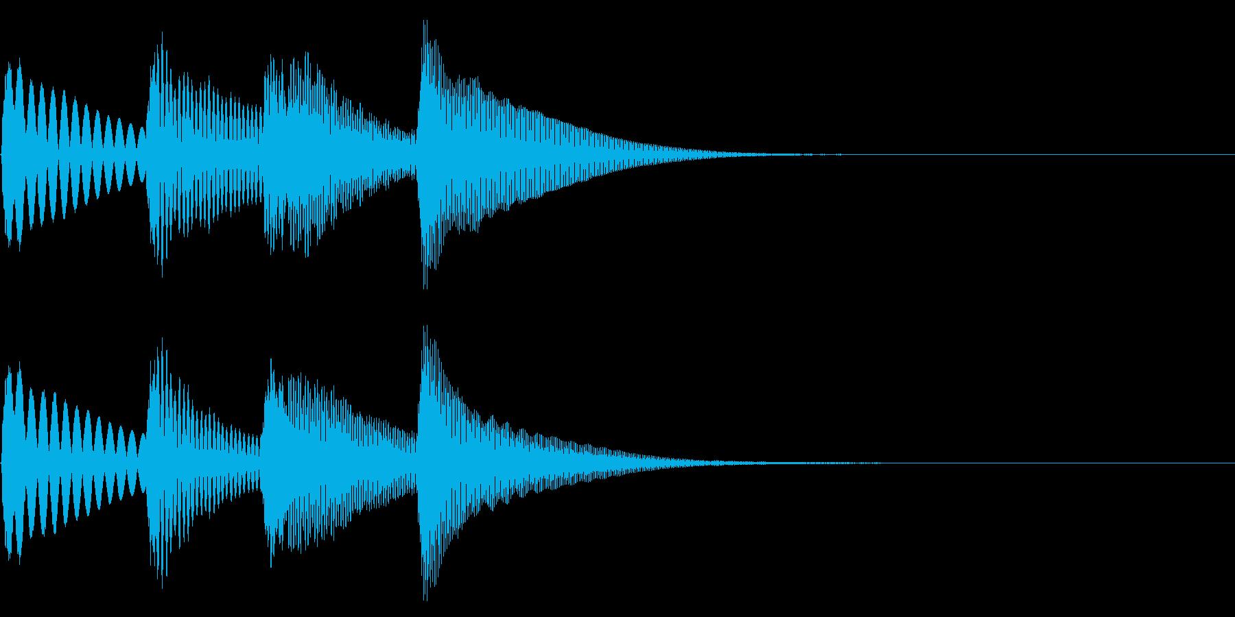 チャンチャンのような場面転換を木琴での再生済みの波形