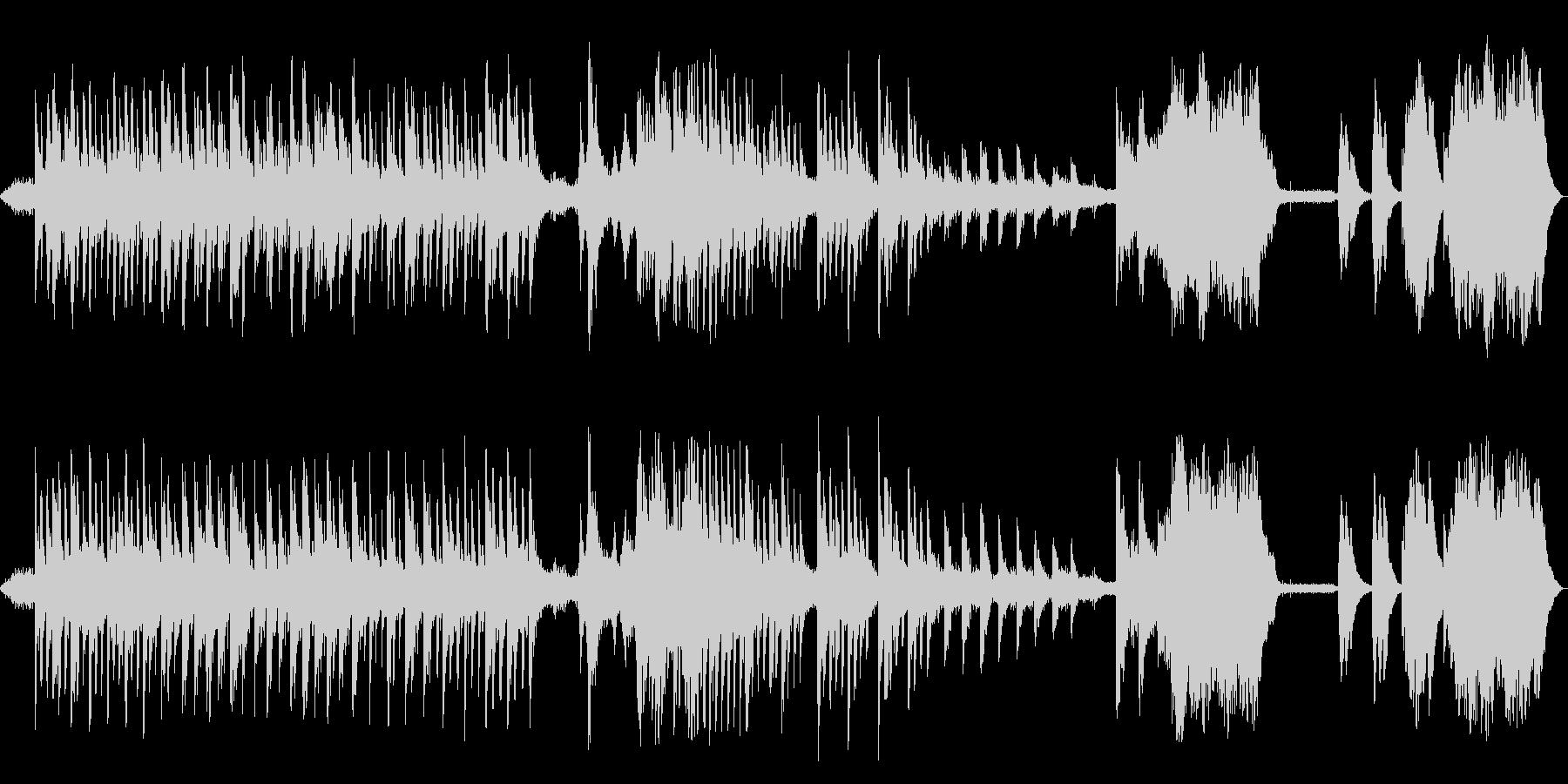 控えめに響く、澄んだ音色のピアノの未再生の波形