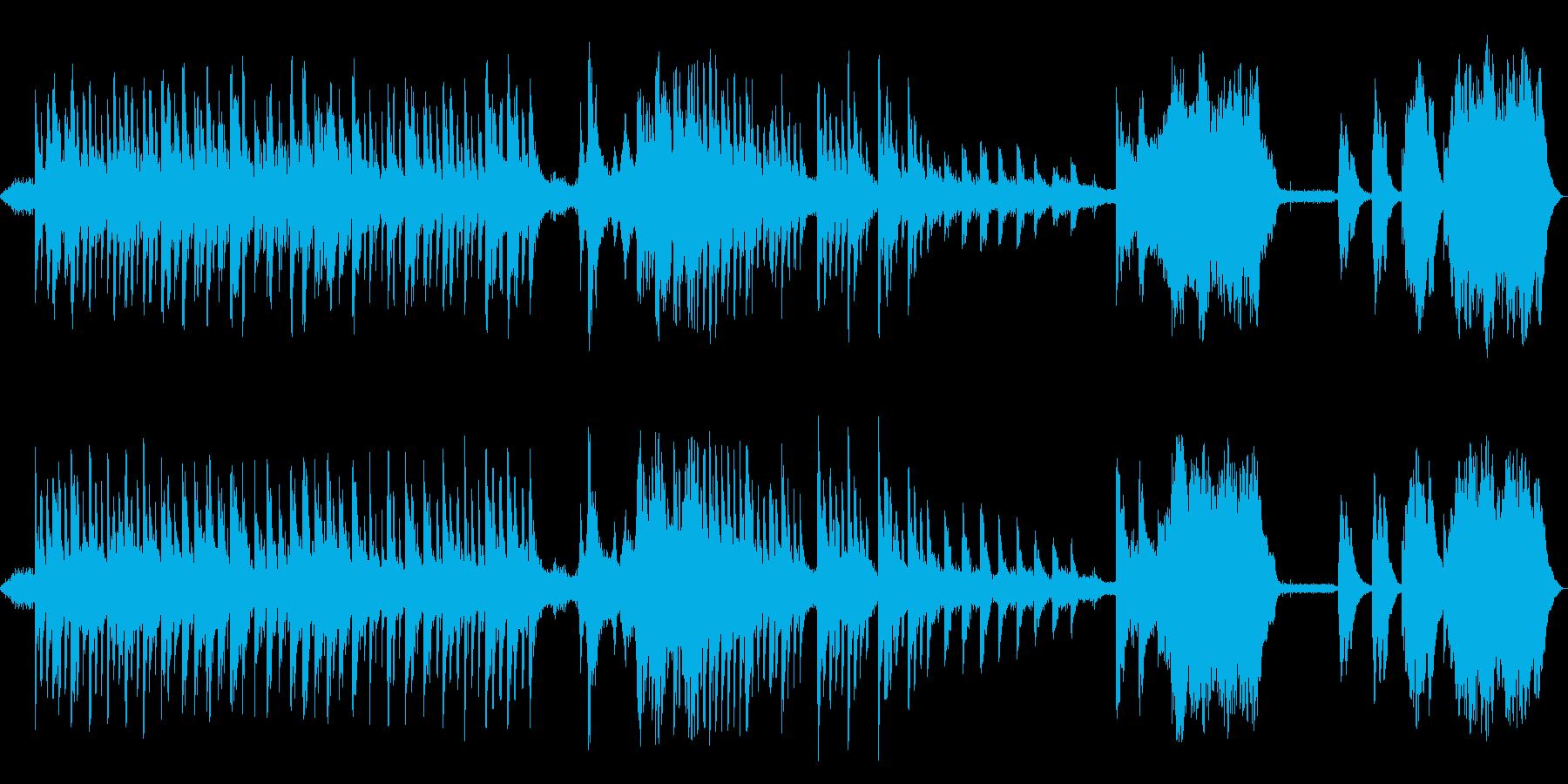 控えめに響く、澄んだ音色のピアノの再生済みの波形