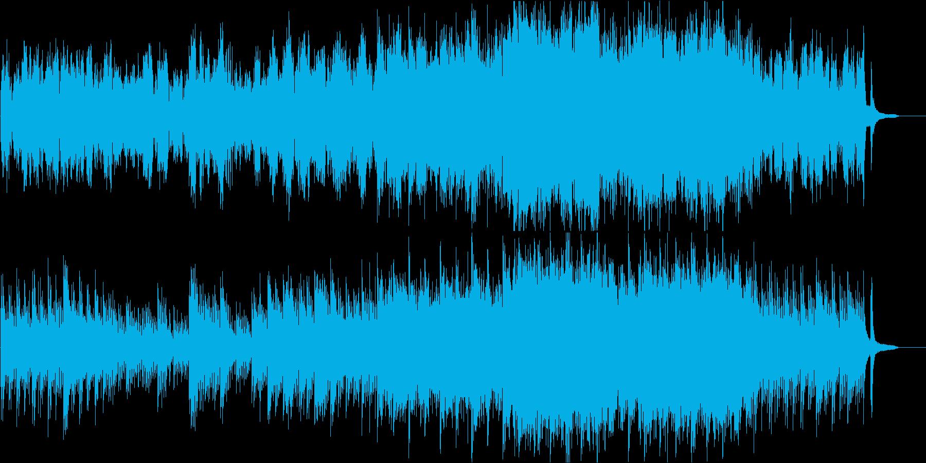 オーケストラ企業向 静かなピアノ感動壮大の再生済みの波形