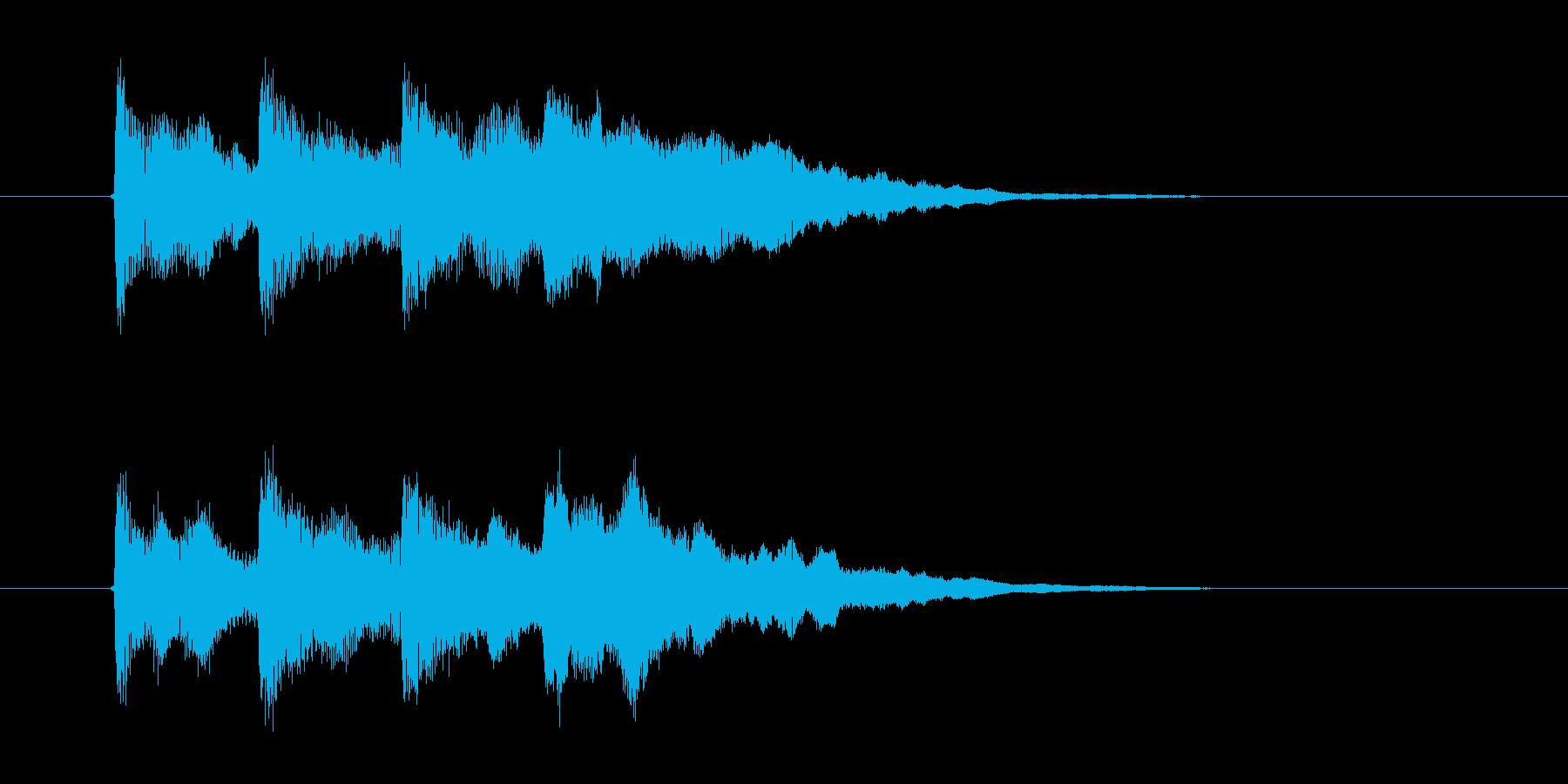 ピンポンパンポーン(迷子のお知らせ)の再生済みの波形
