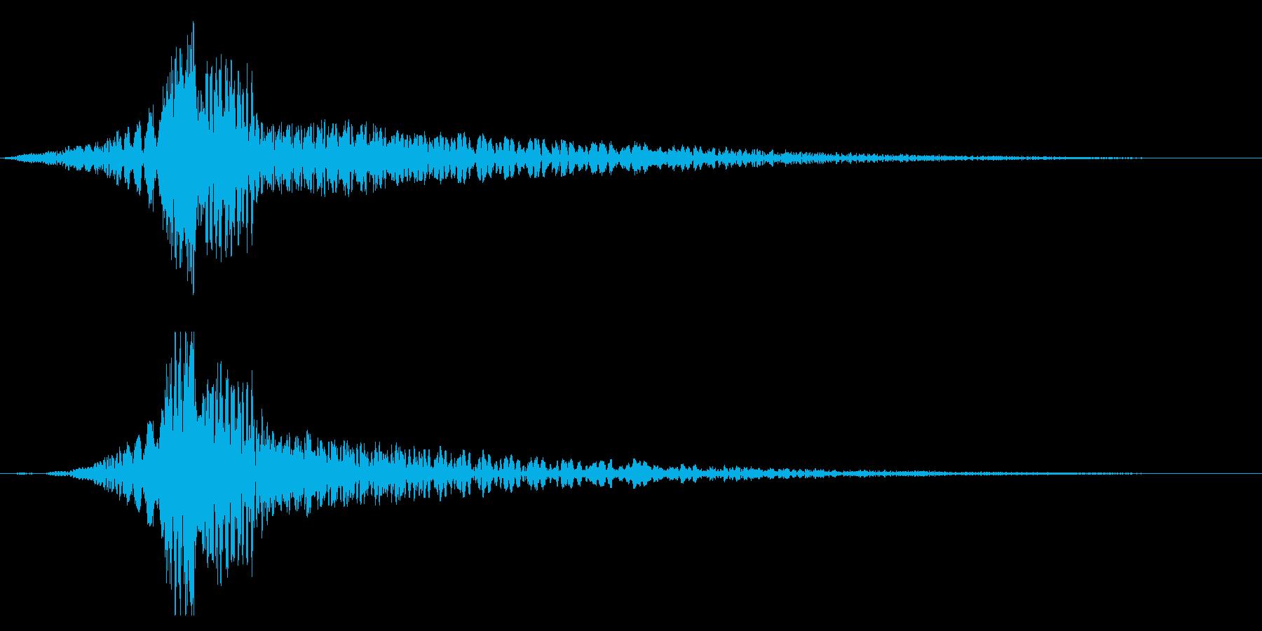 ホラー系アタック音88の再生済みの波形