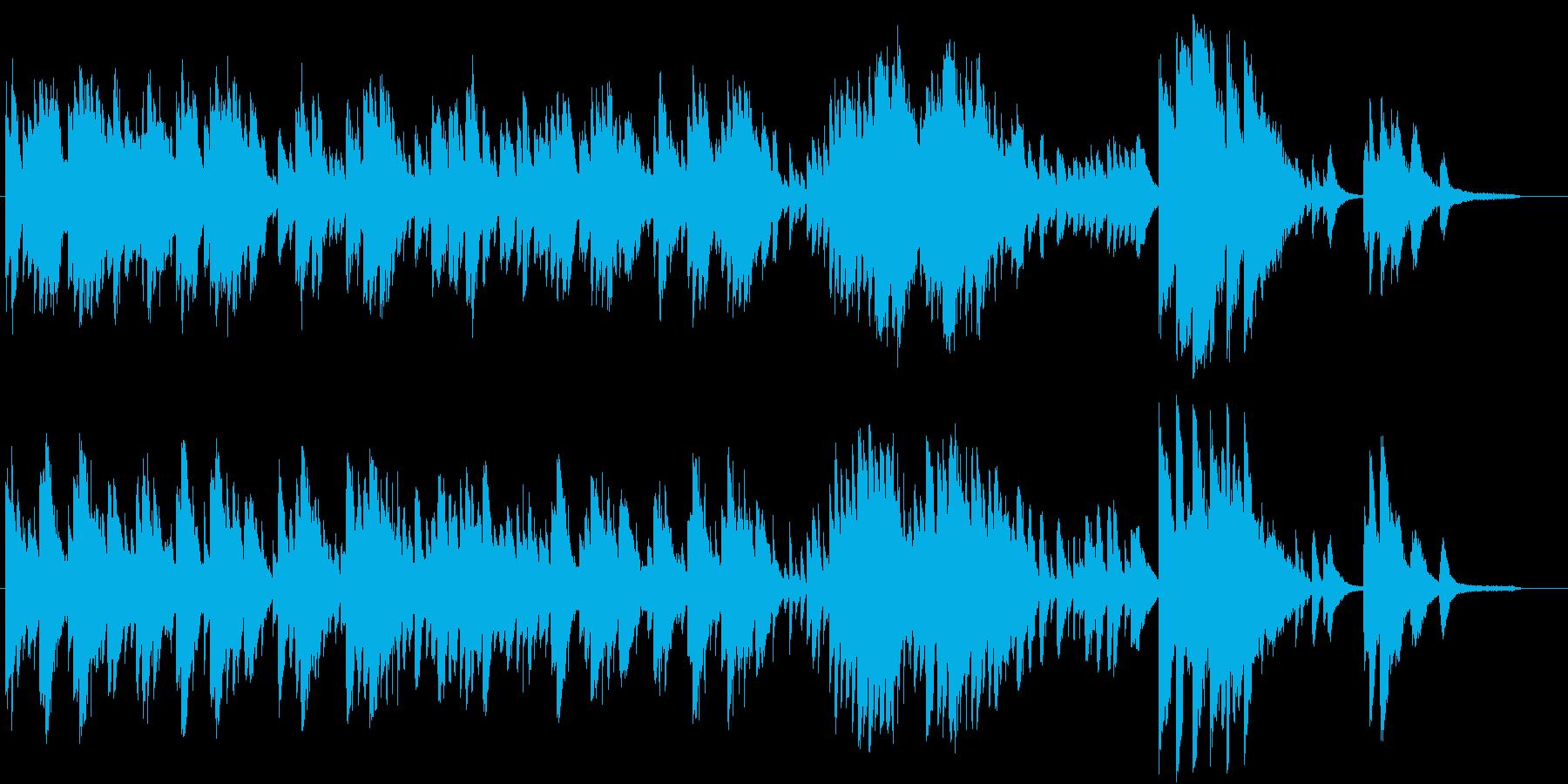 レトロモダンなピアノソロBGMの再生済みの波形