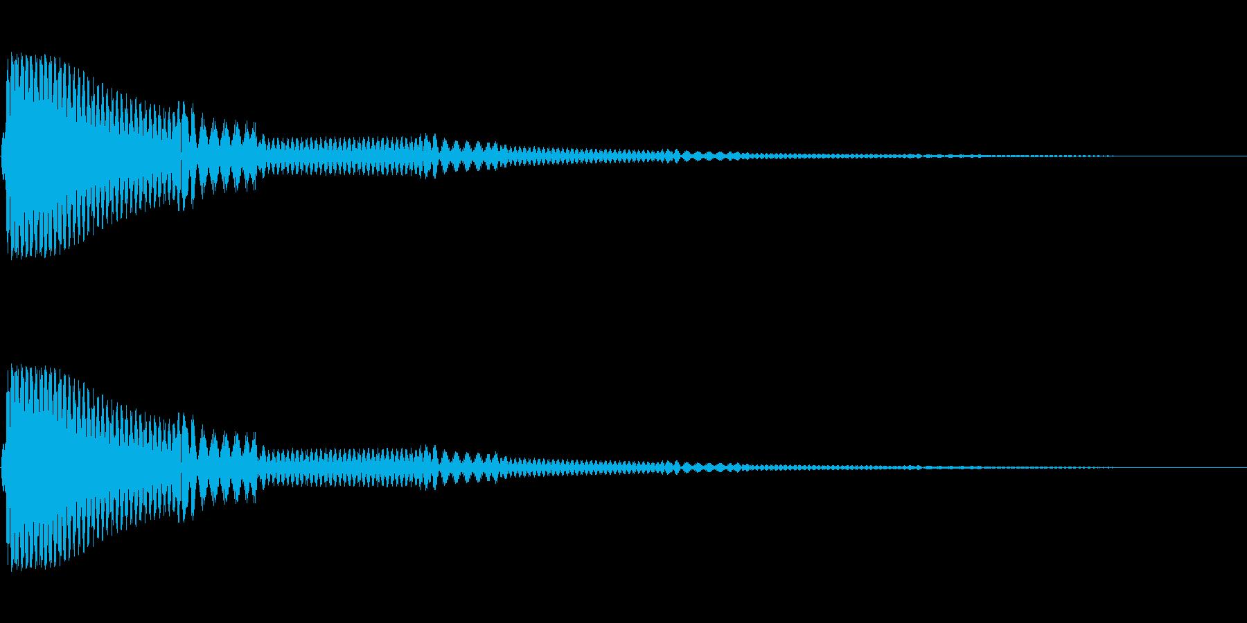 シンプルなカーソル音です。の再生済みの波形