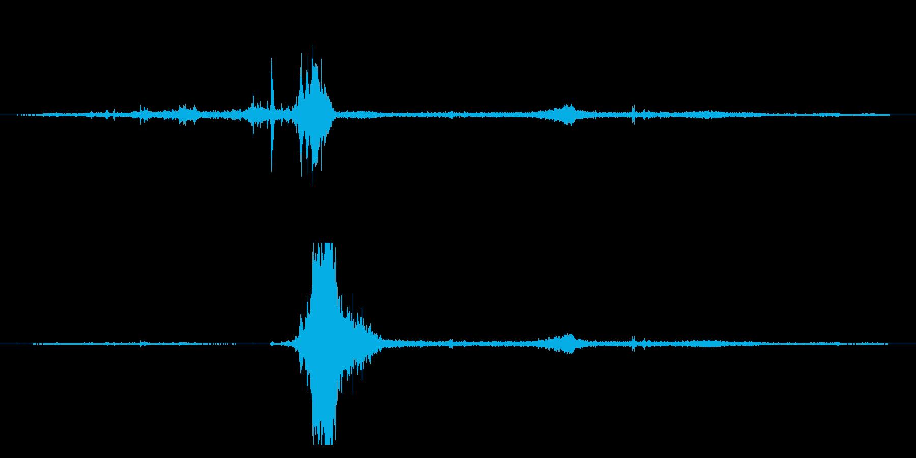 シャッ!アイススケートすべる効果音!13の再生済みの波形