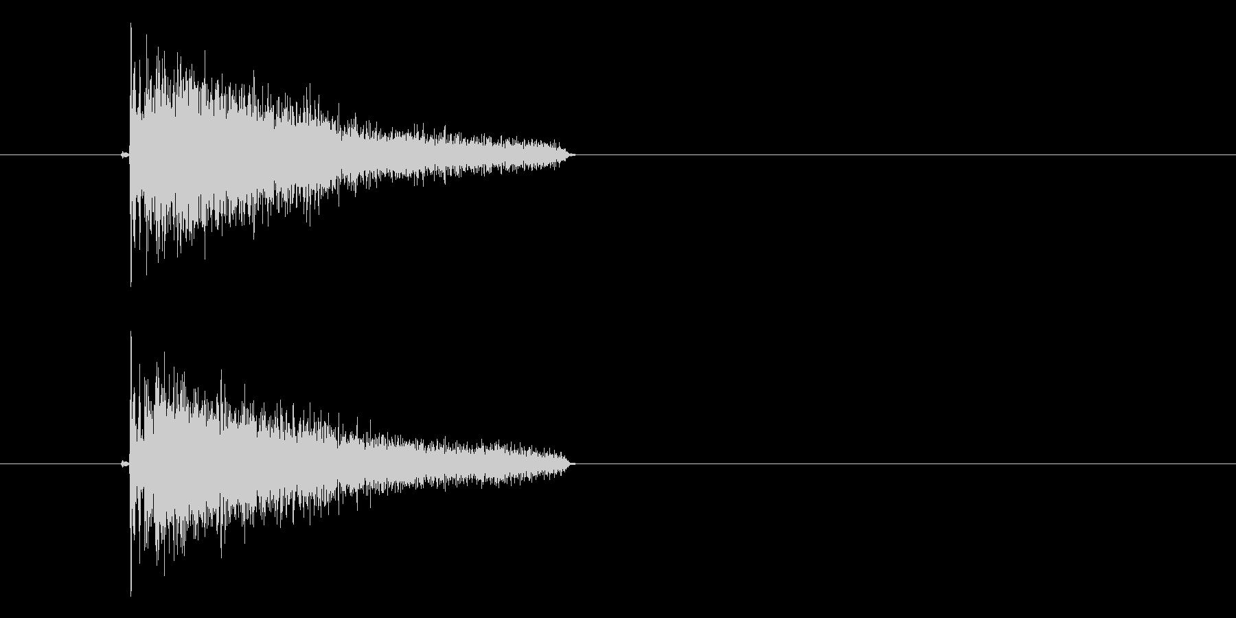 ジャン、ジャーンという決定音の未再生の波形