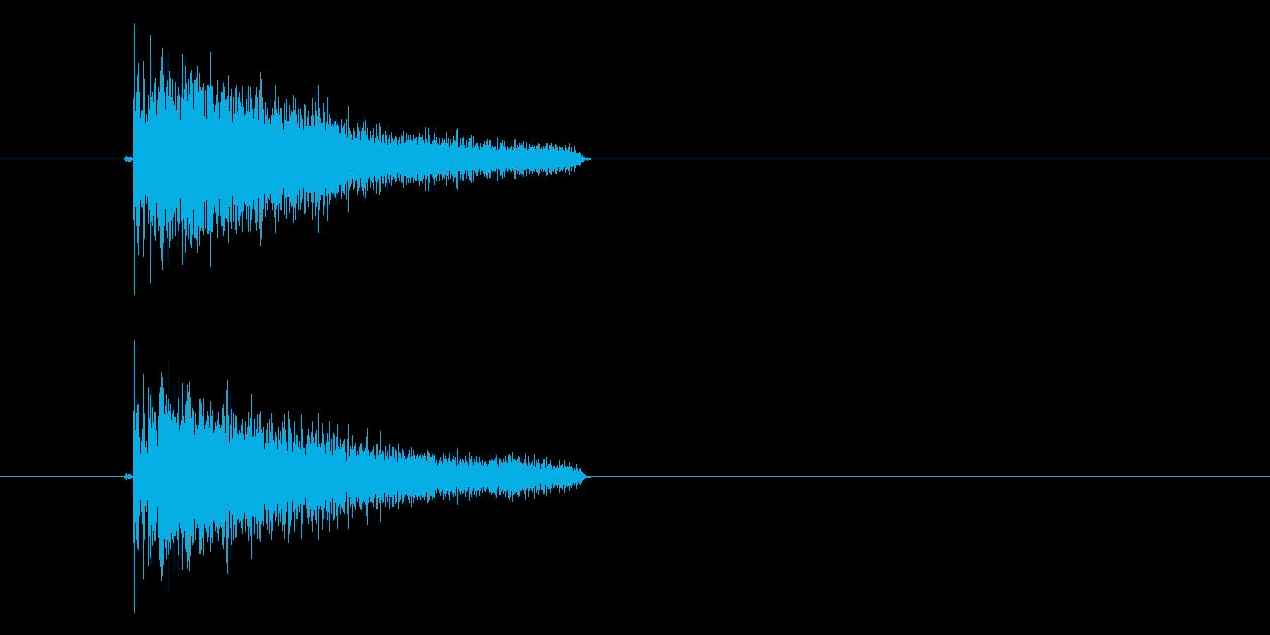 ジャン、ジャーンという決定音の再生済みの波形