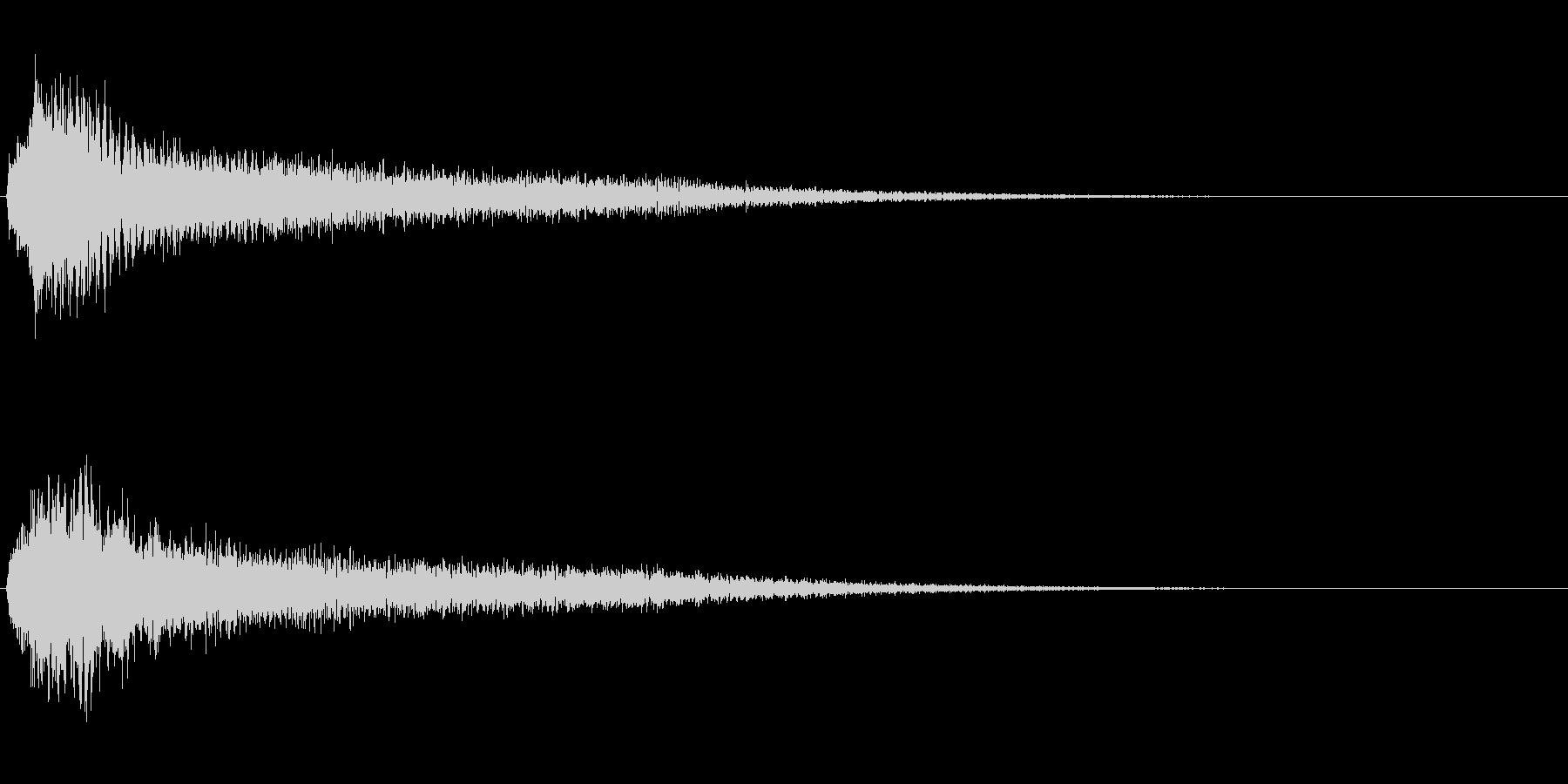 サスペンスに最適!ピアノの弦を弄ぶ音35の未再生の波形