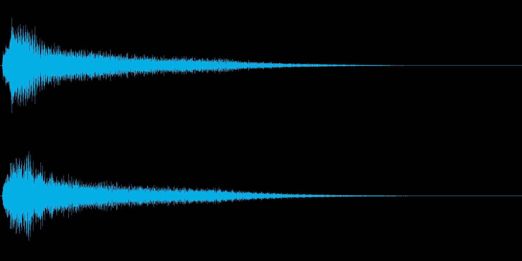 サスペンスに最適!ピアノの弦を弄ぶ音35の再生済みの波形