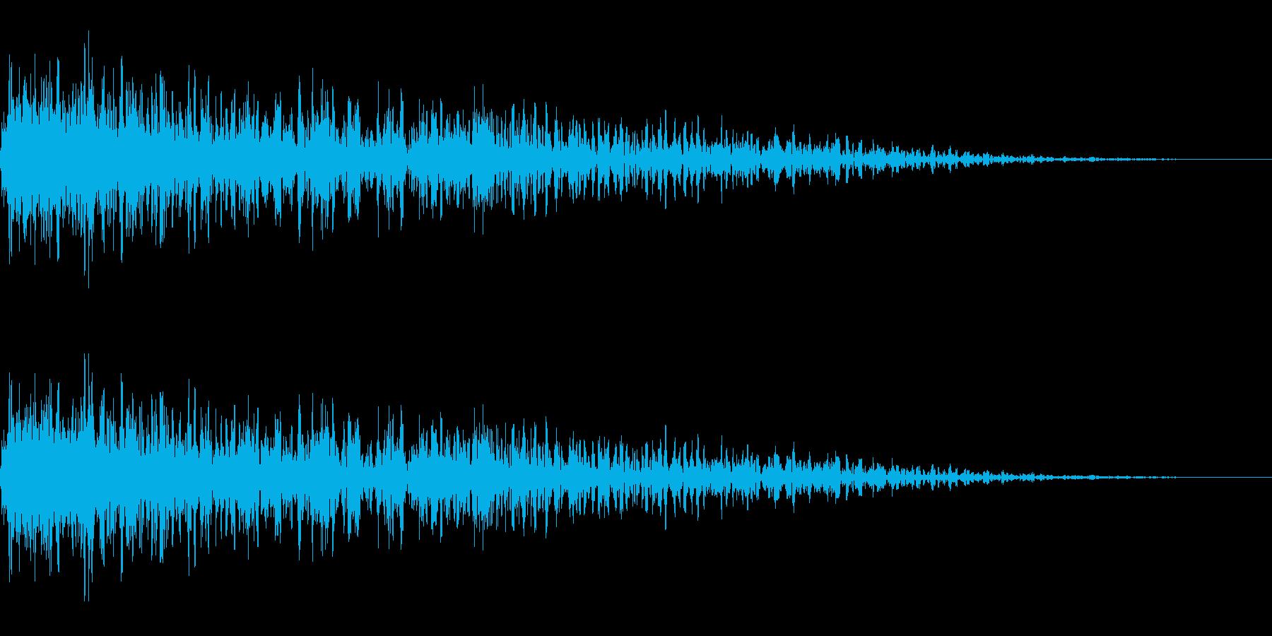 稲光を伴った雷鳴 1A ズゴーンの再生済みの波形