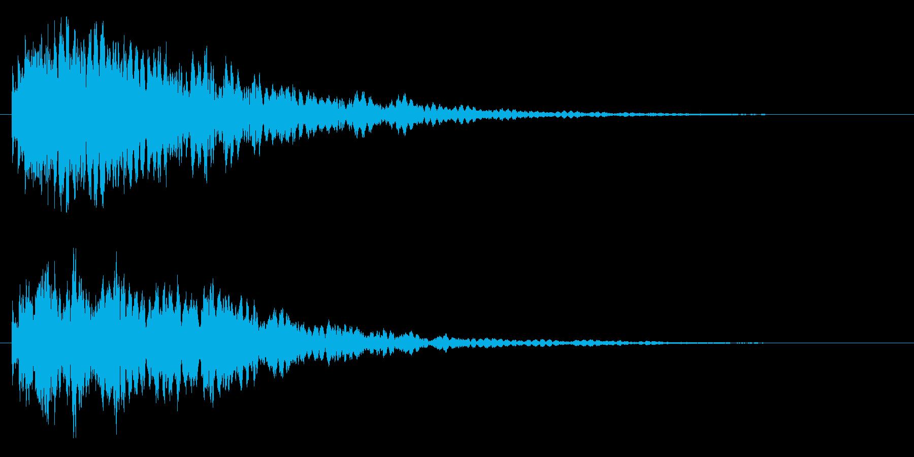 トーン(透明感のあるキー音か決定音)の再生済みの波形