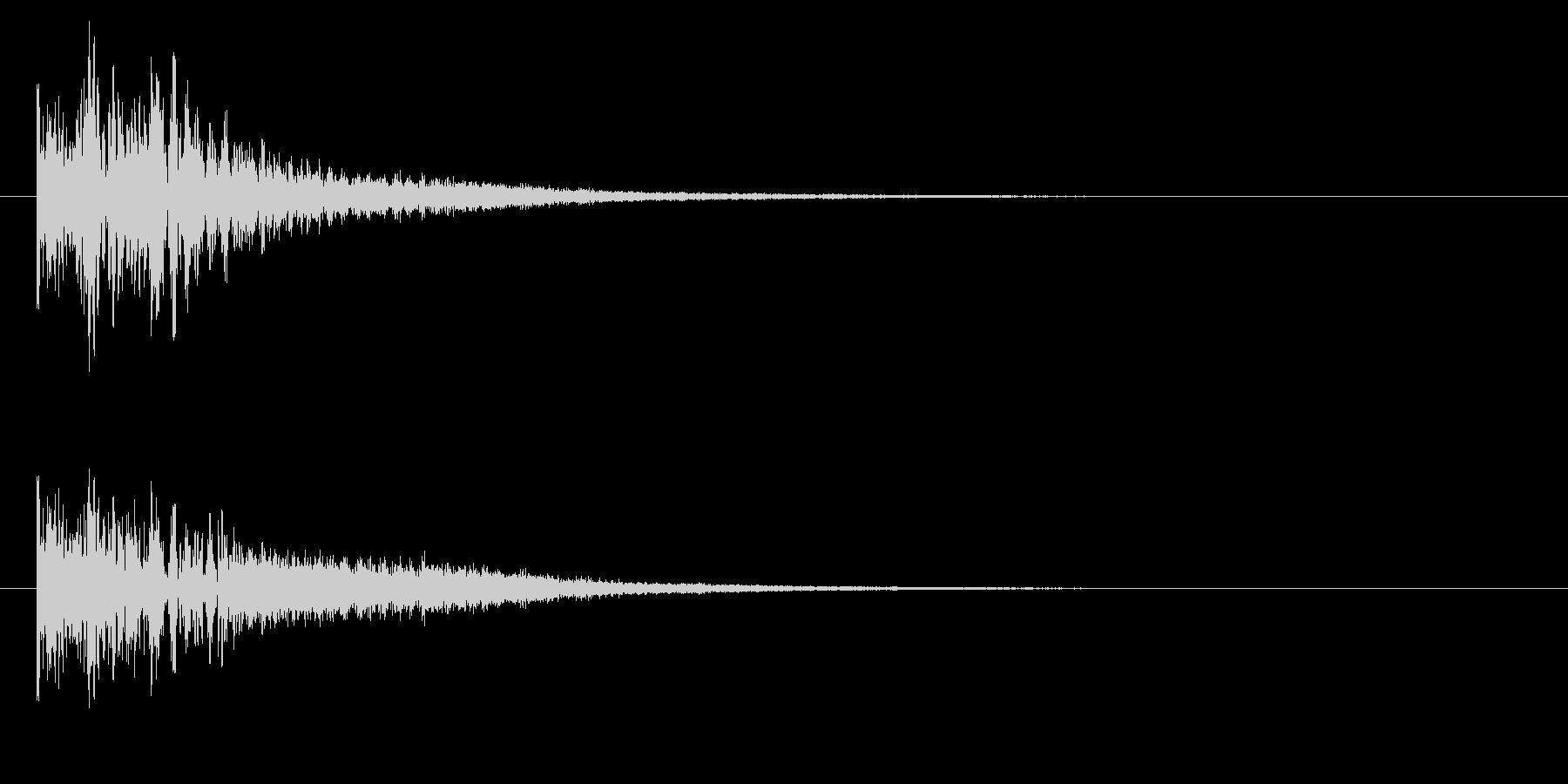 ドドドンチーン、タム回しからシンバルへの未再生の波形
