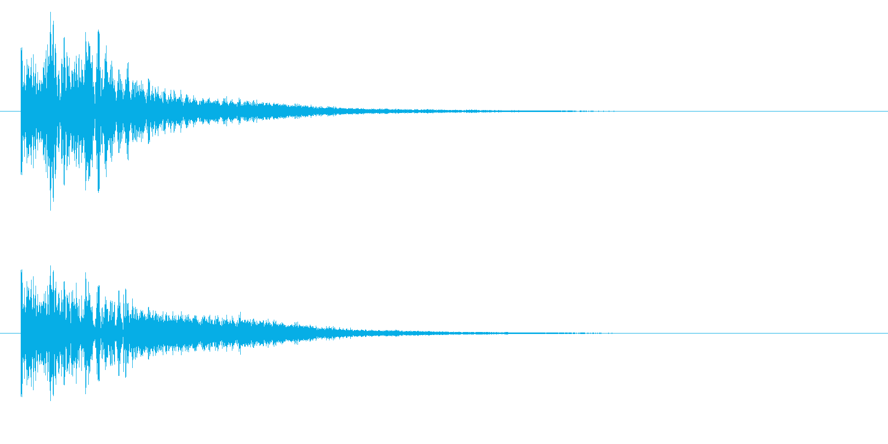 ドドドンチーン、タム回しからシンバルへの再生済みの波形