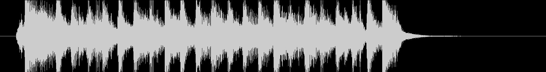 【ジングル】ピアノ主体の軽快で前向きな曲の未再生の波形