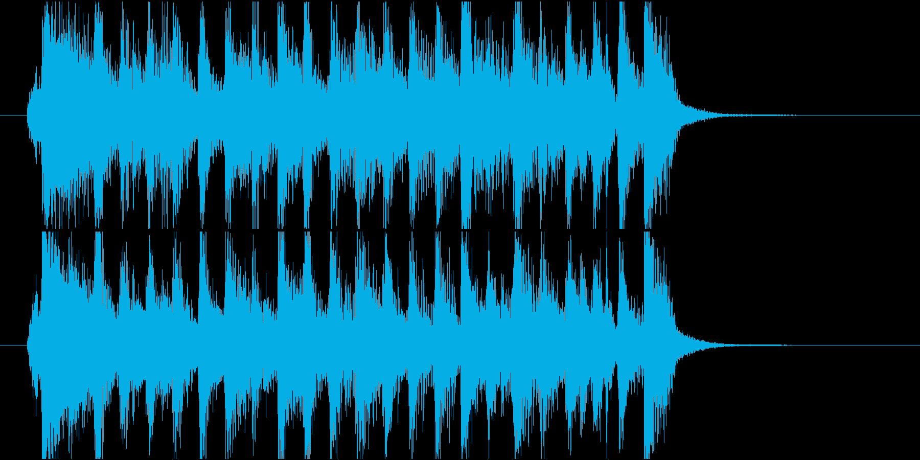 【ジングル】ピアノ主体の軽快で前向きな曲の再生済みの波形