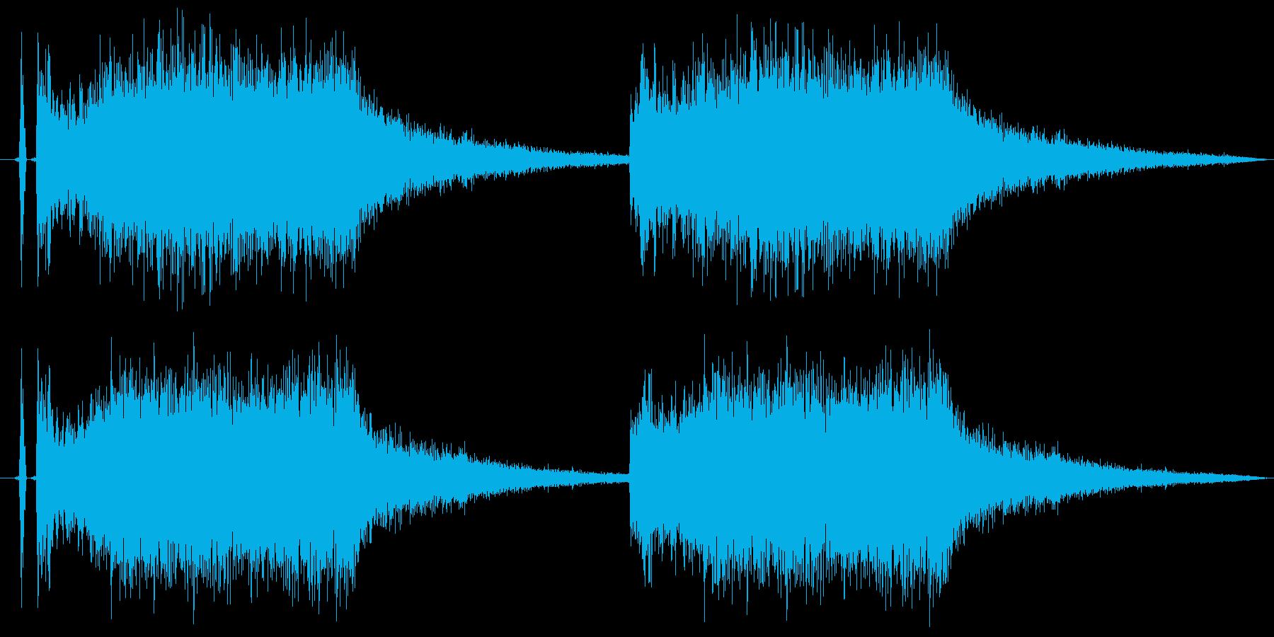 注意、警告音、警報の効果音です!03の再生済みの波形