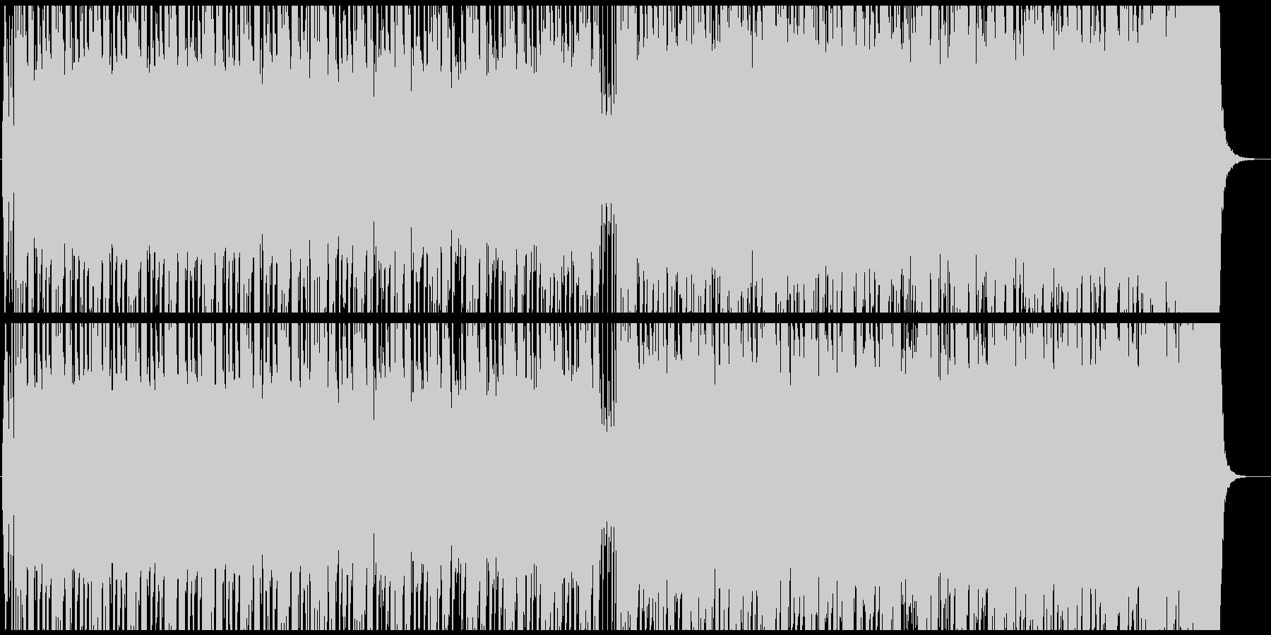 ノリノリの4つ打ちの未再生の波形