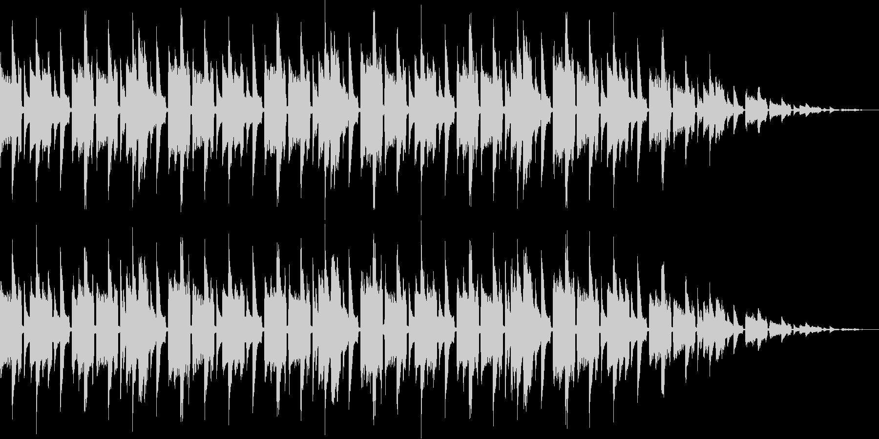 レトロゲーム風BGM(ゲームオーバー)の未再生の波形