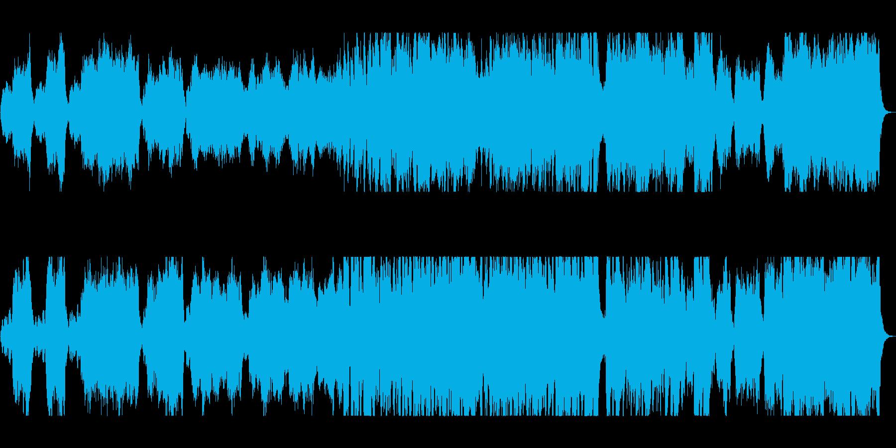 壮大で豪華なシンセ管弦楽器サウンドの再生済みの波形