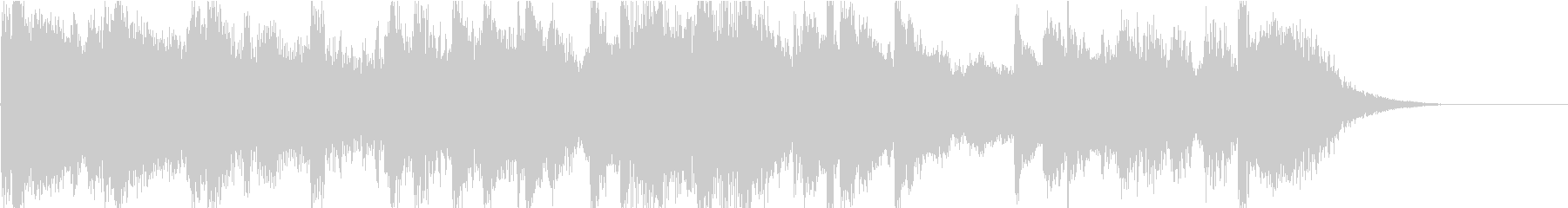 ジングル 軽快なカリビアン の未再生の波形