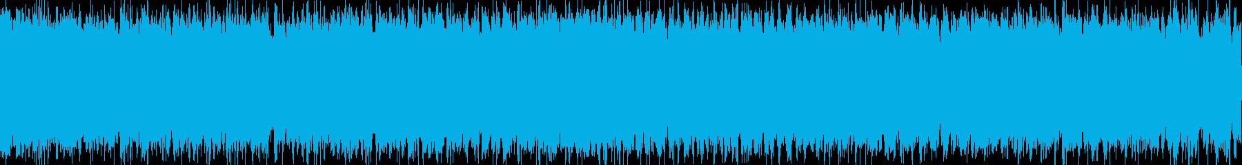 【効果音】秋の虫の鳴き声の再生済みの波形