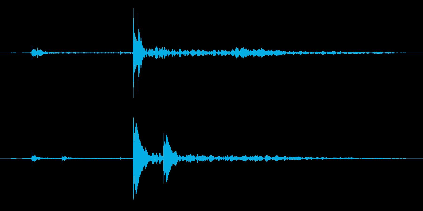 【ピチャ、ぽちゃん】リアルな水滴音07!の再生済みの波形