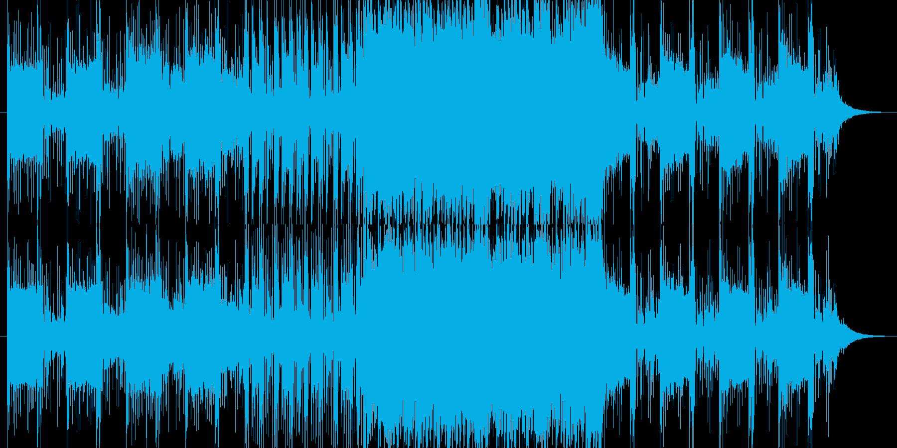 空気間の強いアンビエント系EDMの再生済みの波形
