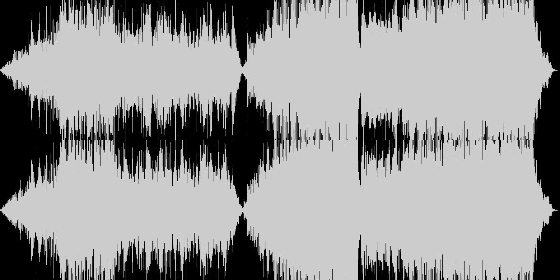 映像音楽ー駆ける馬の未再生の波形