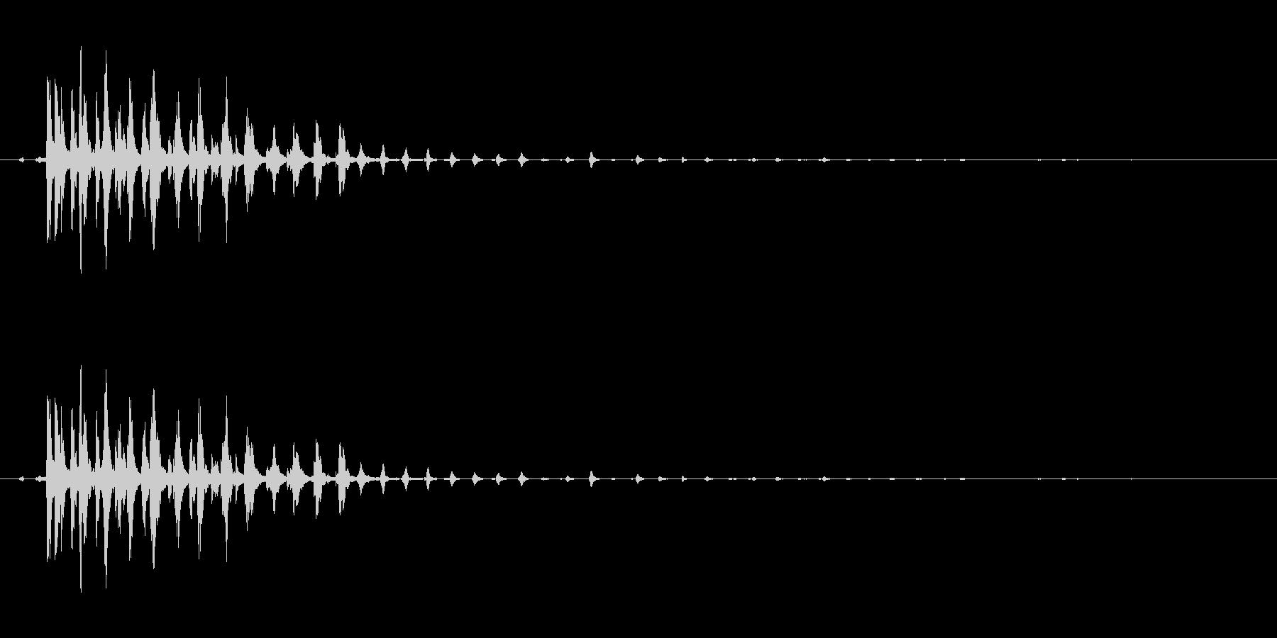 ぎーの未再生の波形