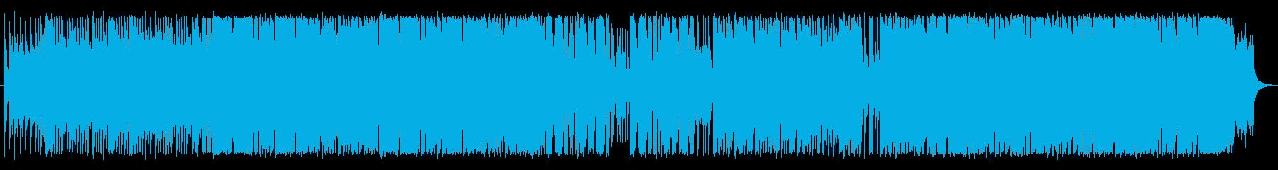 琴を使った和風ロックの再生済みの波形